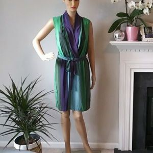 Presley skye faux wrap silk dress